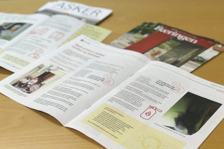 Om brannsikkerhet i Asker-magasinet og Bæringen